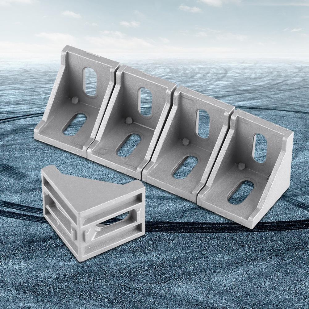 5pcs Aluminum Alloy L Shape Corner Bracket Right Angle Brace