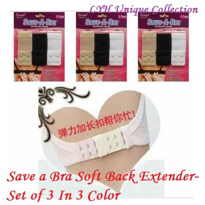 Save a Bra Soft Back Extender-Set of 3 In 3 Color