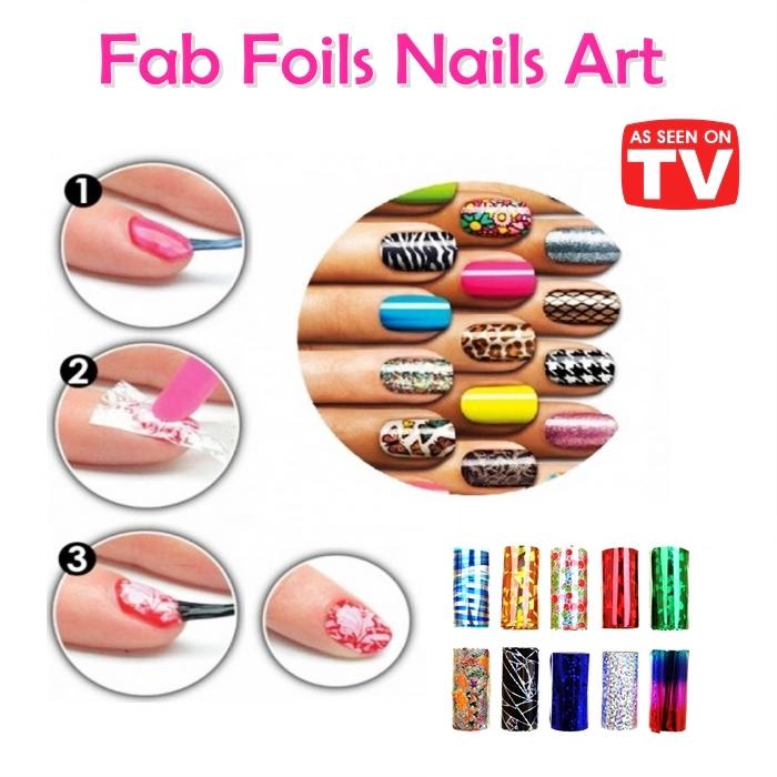 Foils fab Nails Art | Random Colour