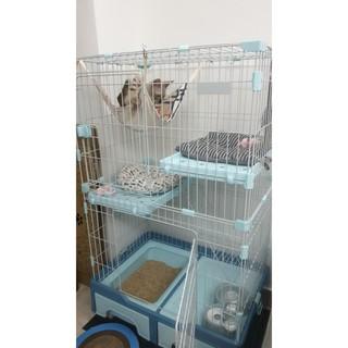 Global Pets Supply Multi Purpose Premium 2 Level Cat Cage ...