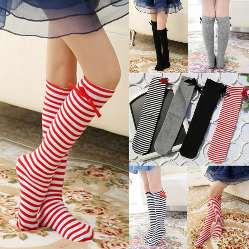 Baby Girls Kids Toddlers Knee High Socks Tights Leg Warmer Stockings For Age3-12