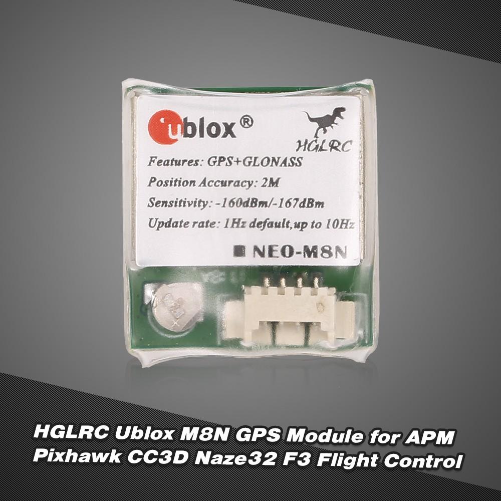 HGLRC Ublox M8N GPS Module for APM Pixhawk CC3D Naze32 F3 Flight Control
