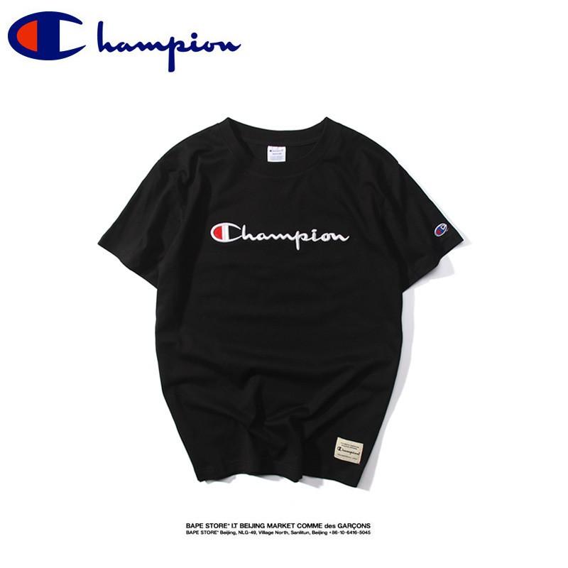 bdbf6f118cc53 🔥Ready Stock🔥Champion short-sleeved crew neck cotton T-shirt Couple t  shirt