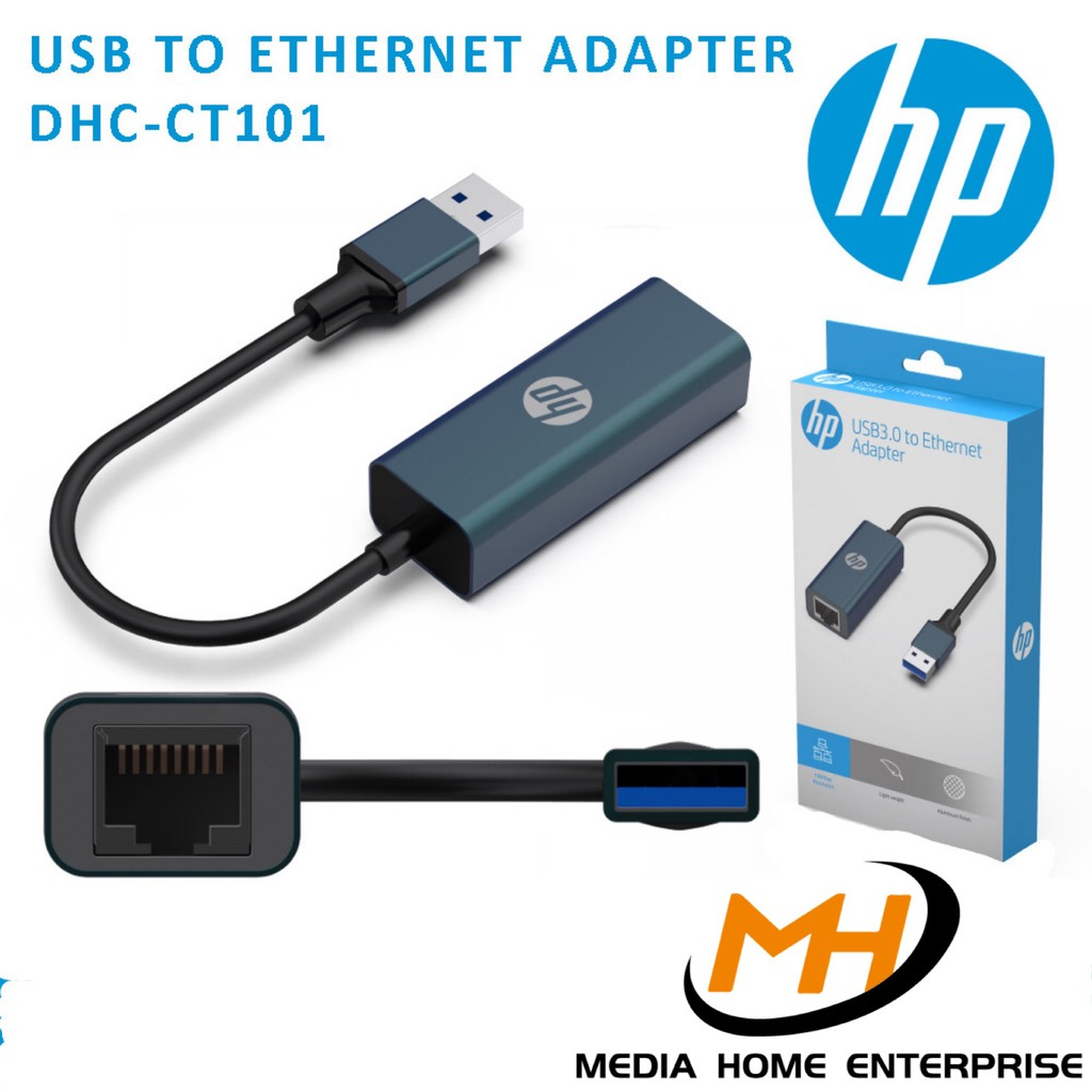HP DHC-CT101 USB3.0 to RJ45 Lan Gigabit Ethernet Network Adapter (Morandi Blue)