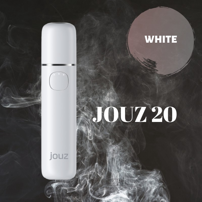 JOUZ 20 - HEAT NOT BURN 20 Continuous Stick With Single Charge Free GIft Cleaning Device (White)