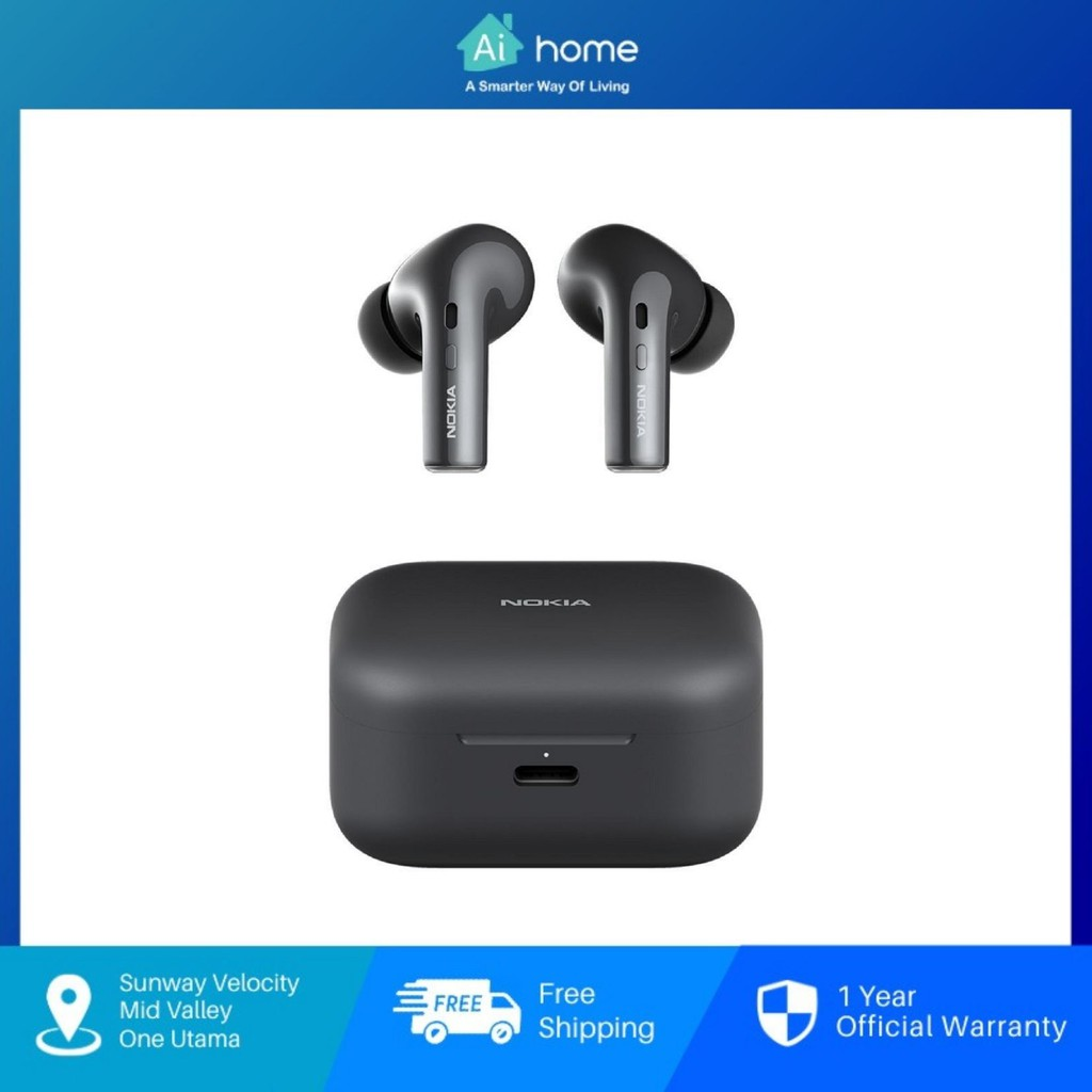 NOKIA Essential E3500 True Wireless Stereo Earphones with Case - Voice Control | 25H Play Time | IPX5 [ Aihome ]