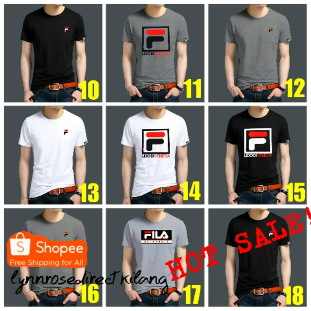 fila tshirt - Shirts Prices and Promotions - Men's Clothing Dec 2018 | Shopee Malaysia