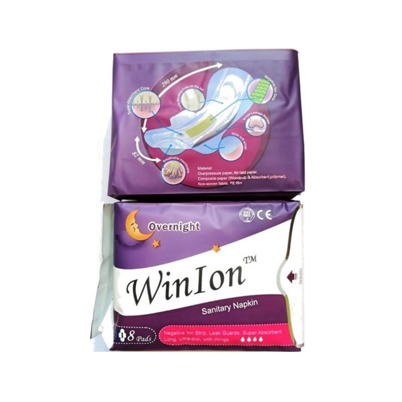 [Genuine] [PROMO] Winalite Winion NIGHT Use Sanitary Napkin With Anion Stripe Twin Pack 月月爱负离子卫生巾