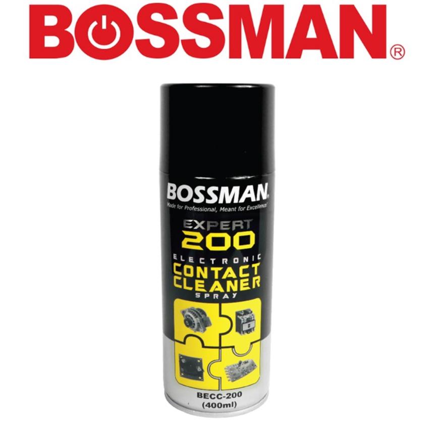 READY STOCK !!! BOSSMAN BECC-200 EXPERT 200 ELECTRONIC CONTACT CLEANER SPRAY 400ML