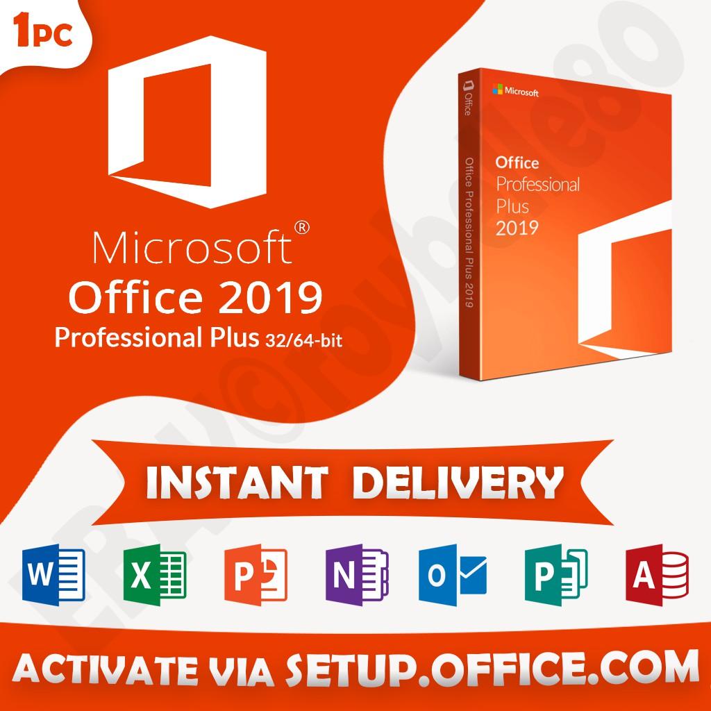 Genuine Original Microsoft Office 2019 Professional Plus Lifetime