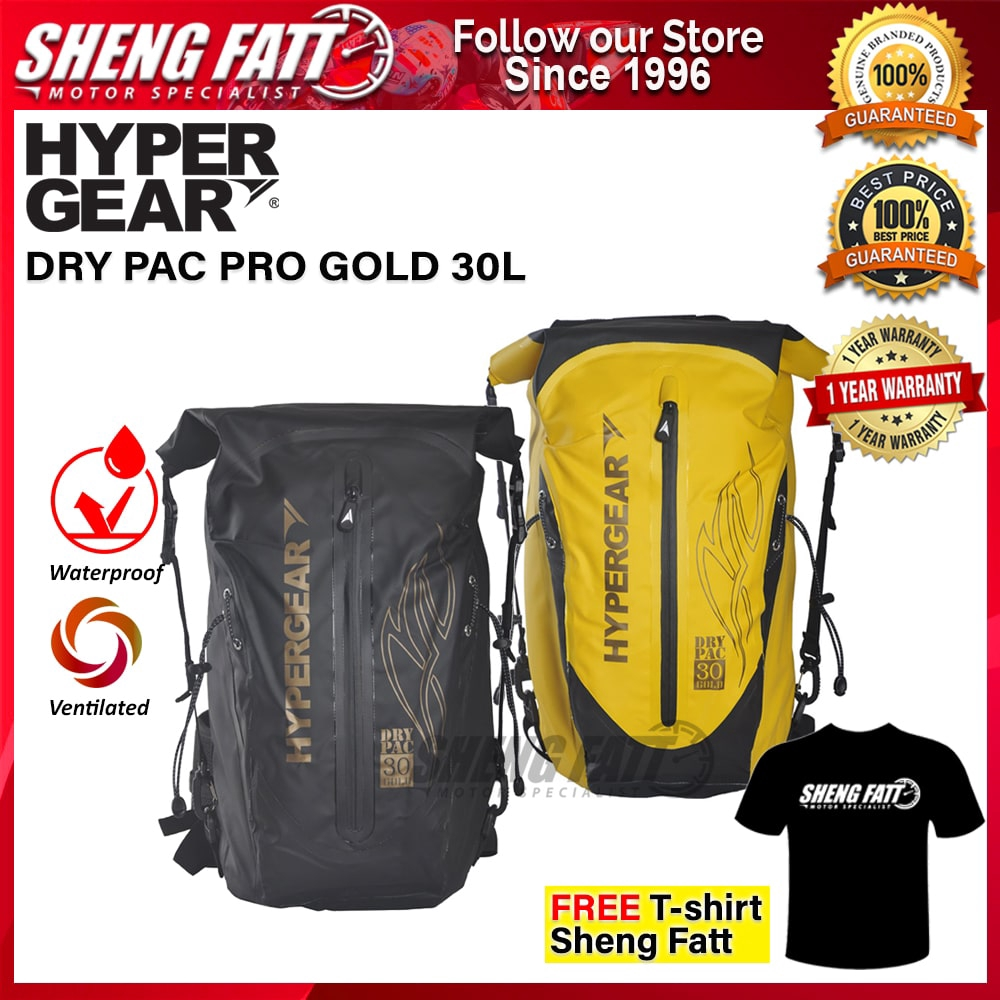 HYPERGEAR DRY PAC PRO GOLD 30L 1 Year Warranty