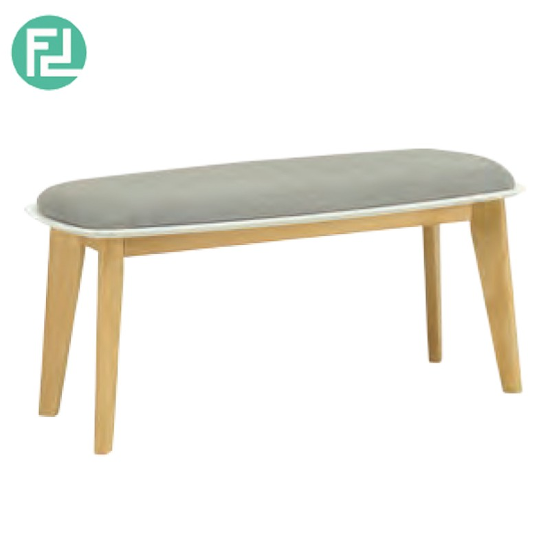 MONTANA wooden bench with cushion seat-grey