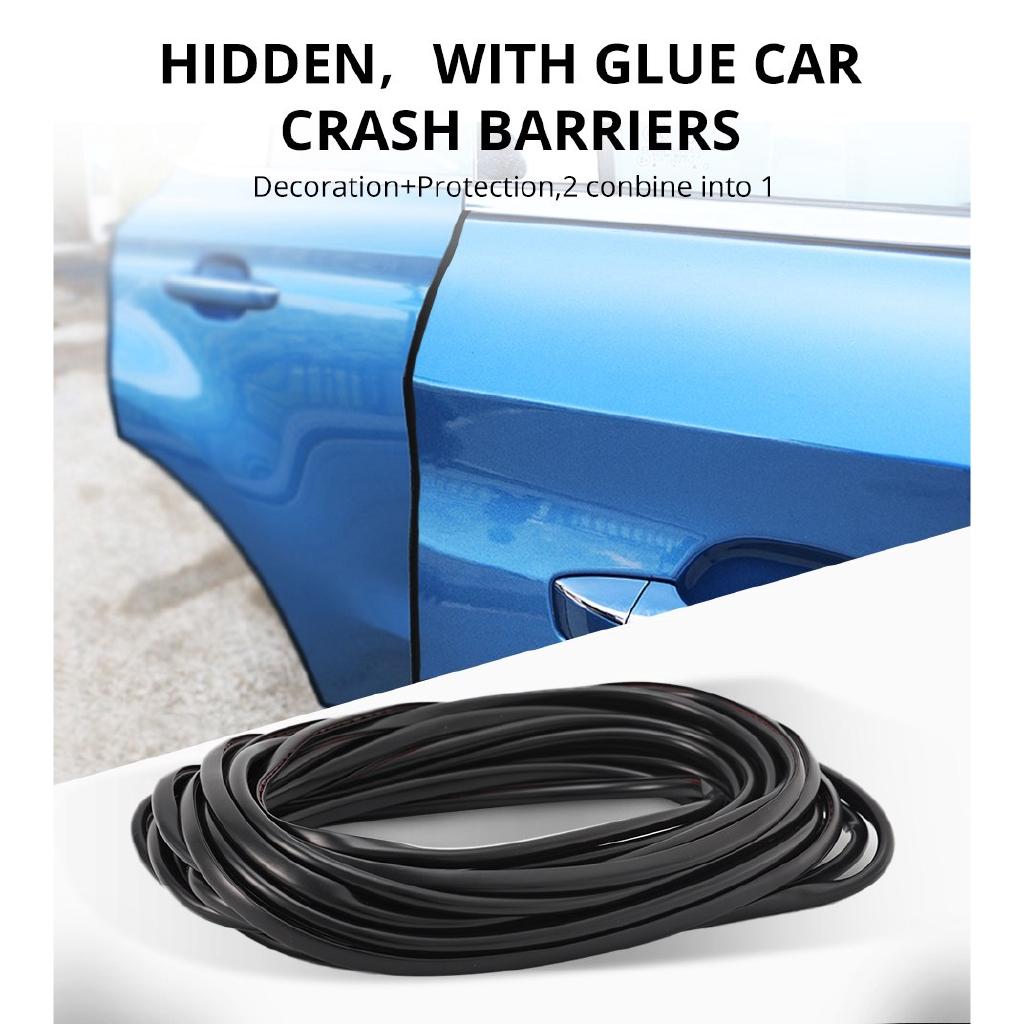 black car decoration strip U-shaped rubber seal strip door edge protection 5M 16.4ft anti-scratch and anti-scratch rubber strip decoration supplies