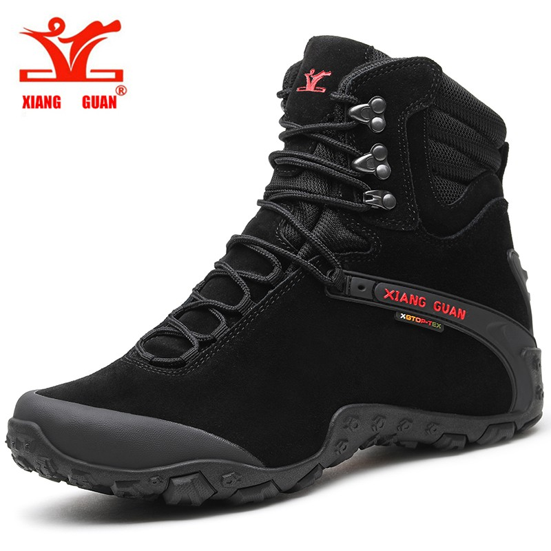 a98e33d52bfd XIANG GUAN Size 36-48 Mid-top Waterproof Hiking Shoes Outdoor Trekking Boots