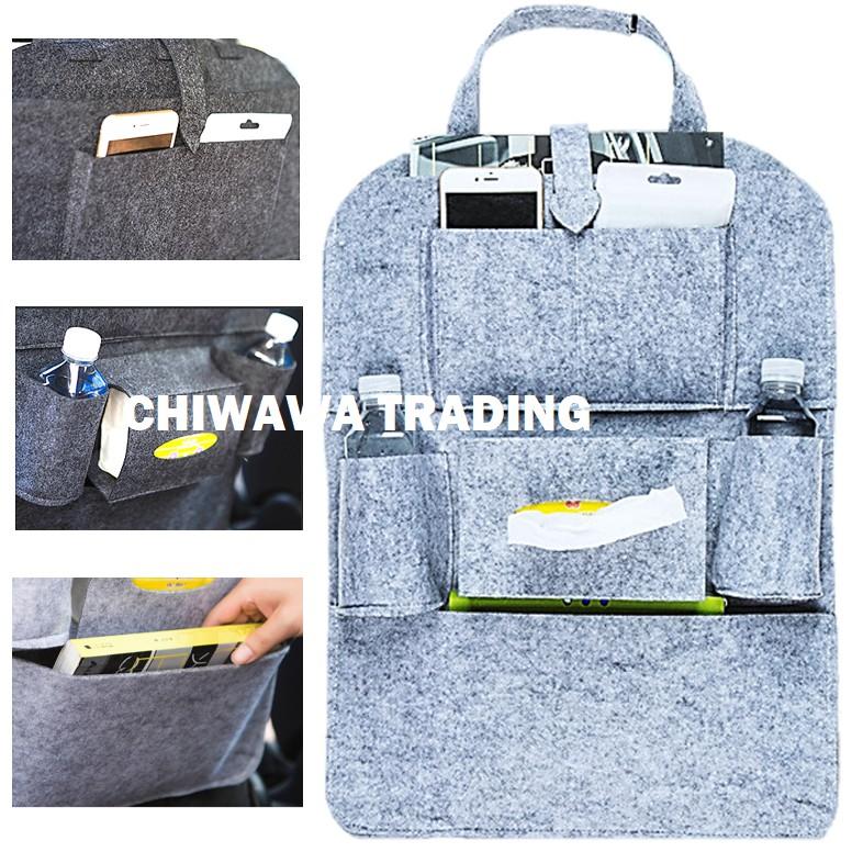 Car Back Chair Seat Storage Bag Multi Pocket Organizer Tissue Storage Holder