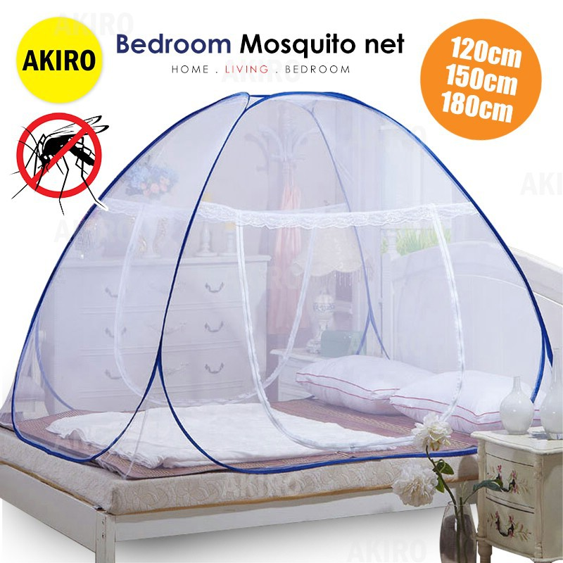c8b59061f94 mosquito net double bed home three door encryption thickened 1.8M bed