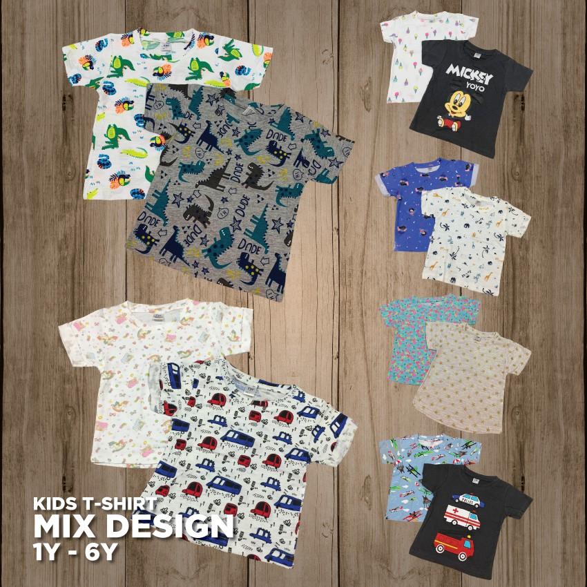 Borong Kids Tshirt 12 Helai Wholesale Baju Budak Shopee Malaysia