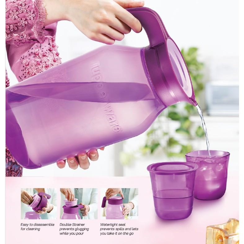 Tupperware Universal Jar Pitcher 4.5L / Crystalline Short Glass 230ml / Serving Tray