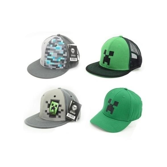 Minecraft NEW Baseball Cap Hat Unisex Adult Children Mooshroom Green Grey  Colour  3522dd4cdd00