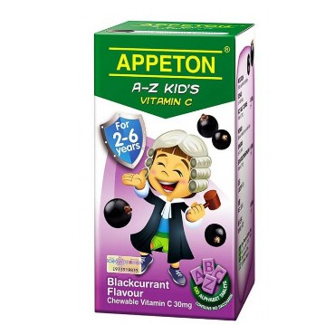 Appeton A-Z kids (blackcurrant) Vitamin C for 2-6 years 100's