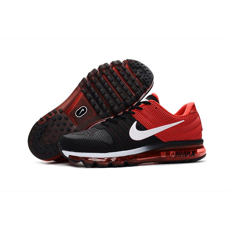 nike air max 2017 black red shoes on sale billig
