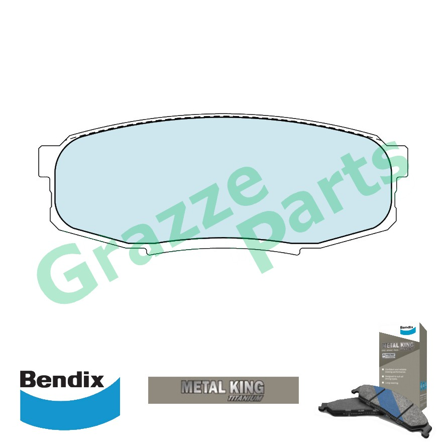 Bendix Metal King Titanium Disc Brake Pad Rear for DB1857 Land Cruiser Prado KDJ150 UZJ200 VDJ200