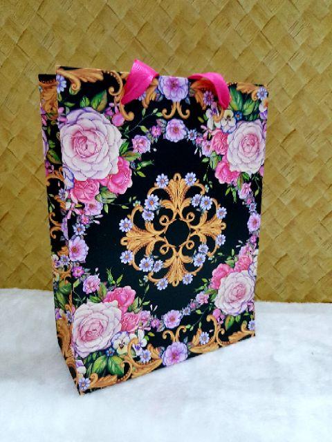 🎀🎗 Premium Paper Bag Floral Hard Quality / Beg Goodies Berkualiti Bertapak 🎀🏡 1 pcs