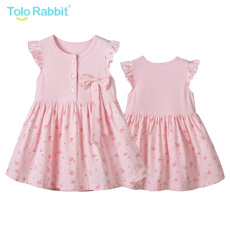 Toddler Kids Girl Oil Painting Butterfly Summer Casual Dress Sundress Clothes