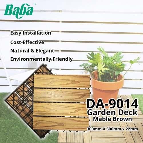Baba DA-9014 Garden Deck Mable Brown Home Decoration 22MM (T) x 300MM (W) x 300MM (L) - Wooden Floor Kayu