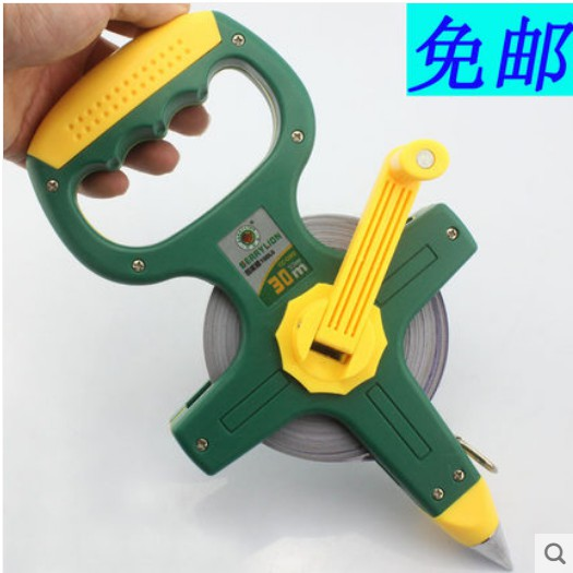 30M 50M BERRYLION OPEN REEL LONG MEASUREMENT TAPE MEASURING RULER MEASURER
