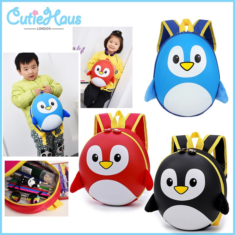 ecde2e12e9c5 Cutiehaus Waterproof Penguin Cartoon Backpack Children Backpacks Kids  Kindergarten Small School Bag