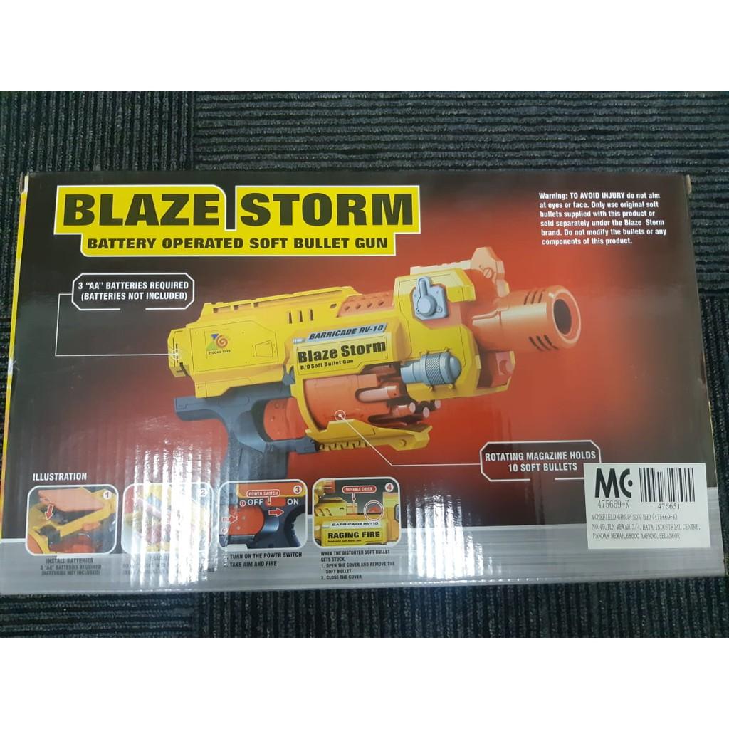 Blaze Storm Baricade RV-10 Soft Bullet Blaster.