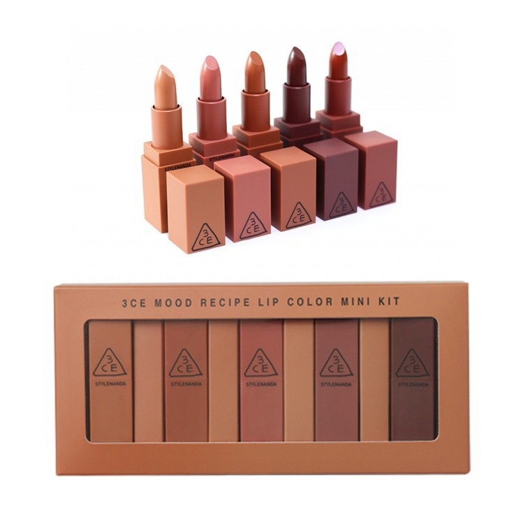 Nude - 3 Versions Ce Mood Lip Color Mini Kit Recipe 3ce Nude - Lip Stick