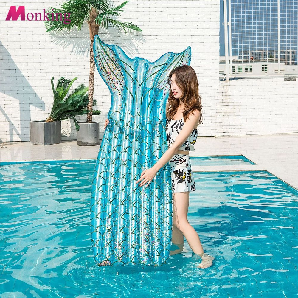 PVC Air Mattress Swimming Pool Beach Inflatable Float Cushion Water Floating Bed MNKG
