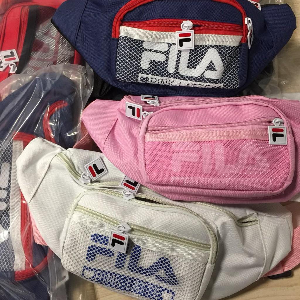 Fila Waist Bag Crossbody Shoulder In Korea Shopee Malaysia Vicria Tas Branded Wanita High Quality Elegant Korean Style Pink