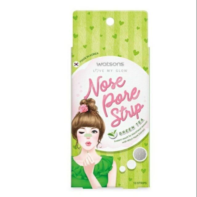 Watsons Nose Pore Strip Green Tea 10 Strips Shopee Malaysia