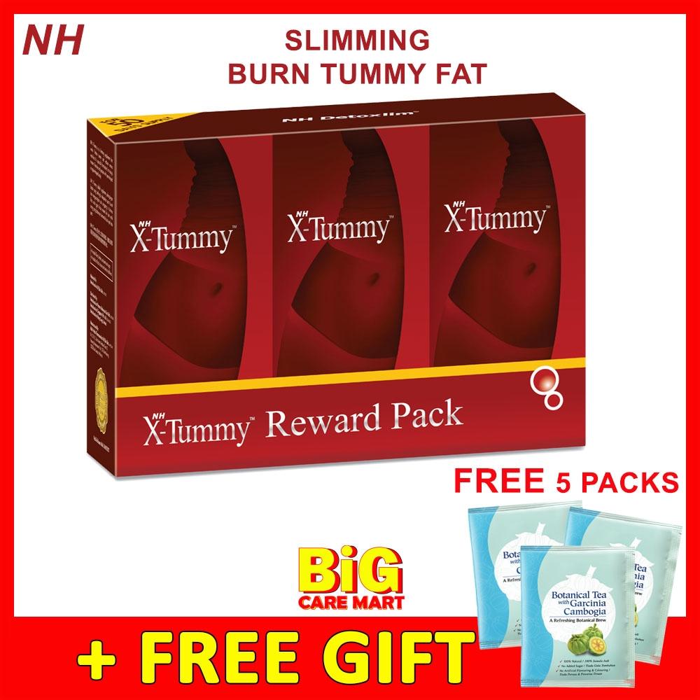 NH X-TUMMY SLIMMING PILLS 50TAB X 3 BOTTLES + FREE 5 GARCINIA TEA