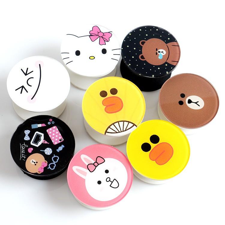 Cute Pop Sockets Cartoon Line Hello Kitty Duck Rabbit Bear