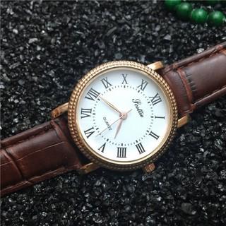 Scottie Vintage Ladies Roman Numeral Leather Quartz Wrist Watch (2Colors)