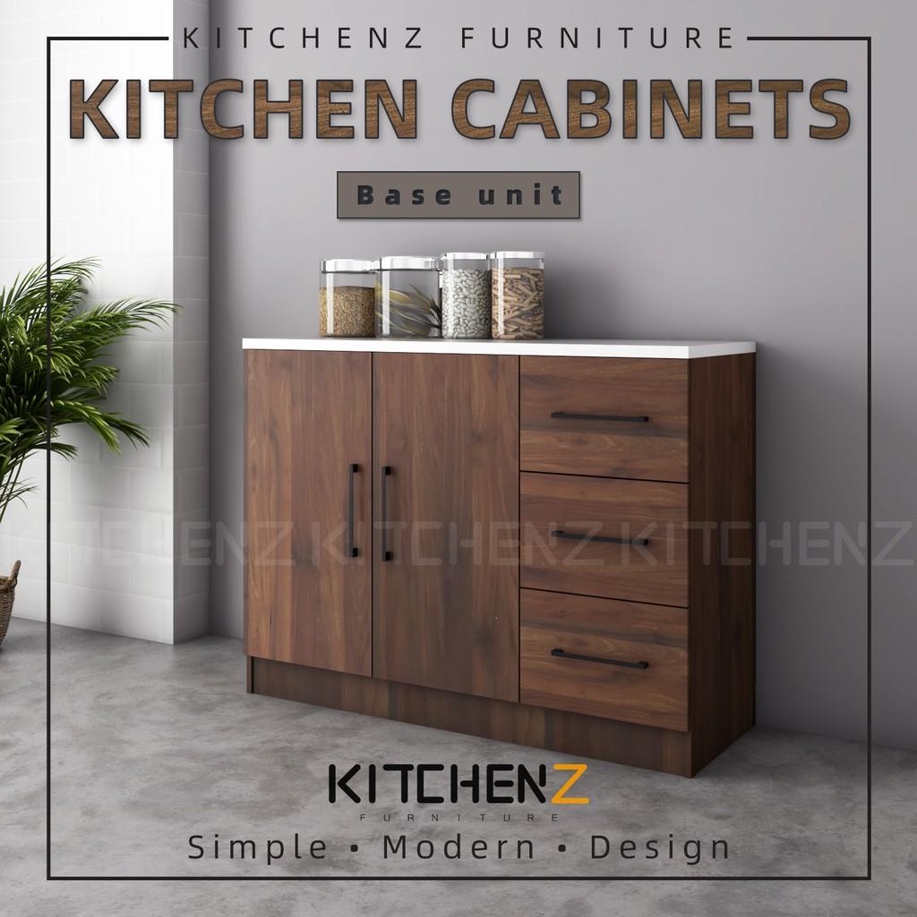 KitchenZ Ventura Series Kitchen Cabinets Base Unit  / Kitchen Storage - HMZ-KBC-MFC9012-WN