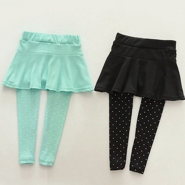 BOBORA Baby Girl Leggings Polka Dot Pattern Pantskirt Trousers Tights Pants