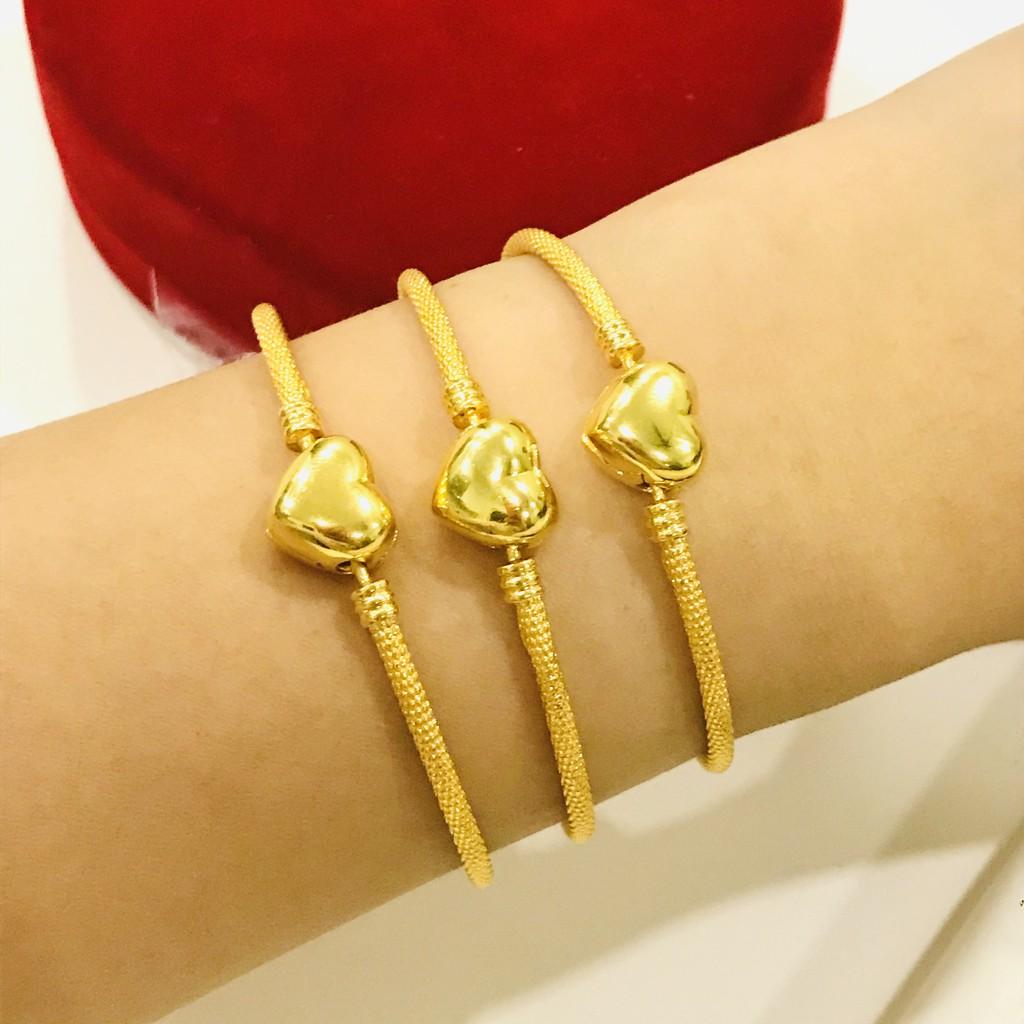 Gelang Emas Masdora Keras Kelip Love / Masdora Gold Bangle Love Clasp (Emas 916)