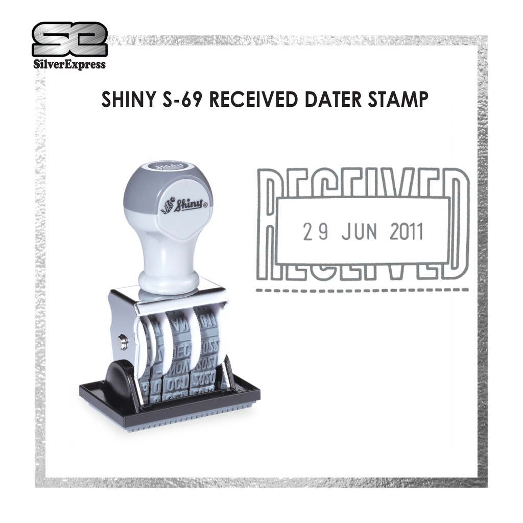 PAID WITH DATE / RECEIVED WITH DATE / FAXED WITH DATE / S-67 / S-68 / S-69 / SHINY / RUBBER STAMP / DATER STAMP