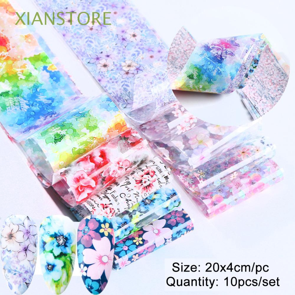 XIANSTORE Manicure Nail Art Decor Transfer Decals Adhesive Full Wraps Nail Stickers