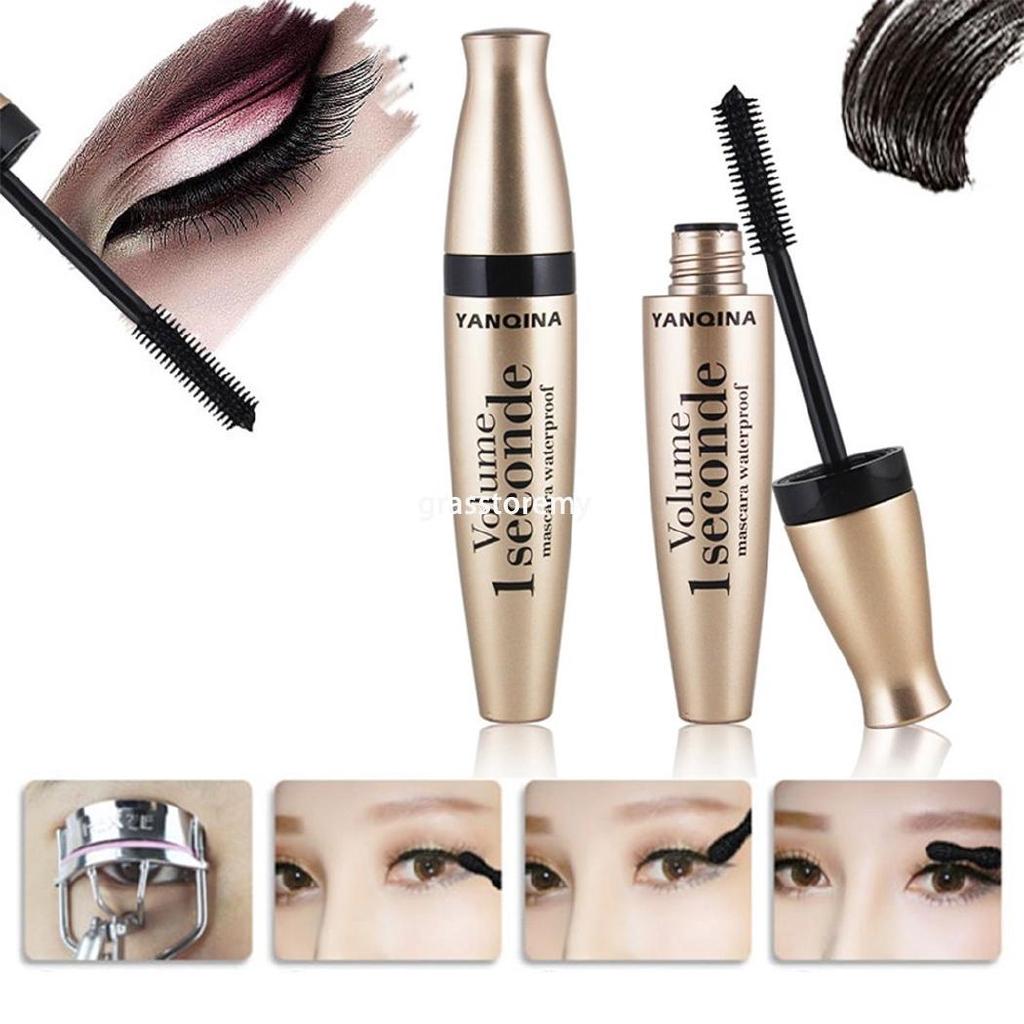 ㋡GR New 1PC Black Mascara Waterproof Quick Dry Lengthening Makeup Mascara Cream