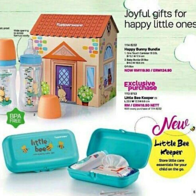 🔥PROMOSI🔥 Tupperware set botol susu Happy Bunny Bundle 9oz