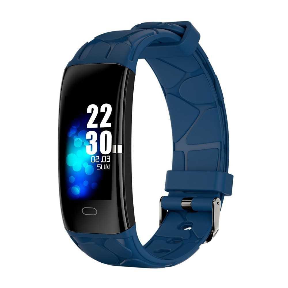 Smart Bracelet Heart Rate Blood Pressure Blood Oxygen Multi-Sports Mode IP67 Waterproof Fitness Smartwatches (Blue)
