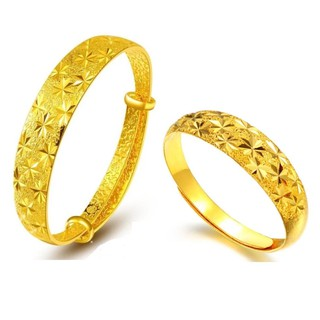 ... Premium 24K Gold Plating Starry Bangle - FREE Ring. like: 60