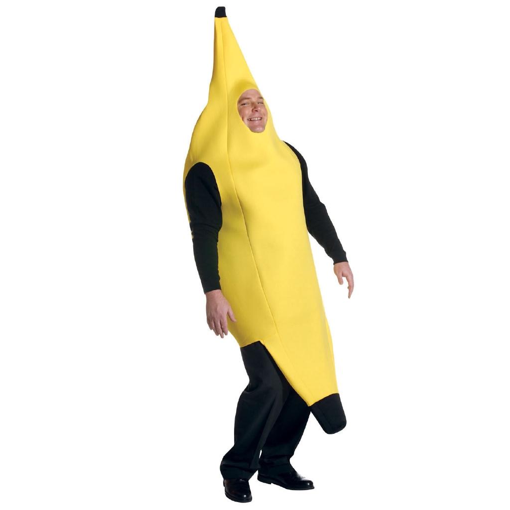 NOVELTY BANANA ADULT UNISEX FANCY DRESS COSTUME