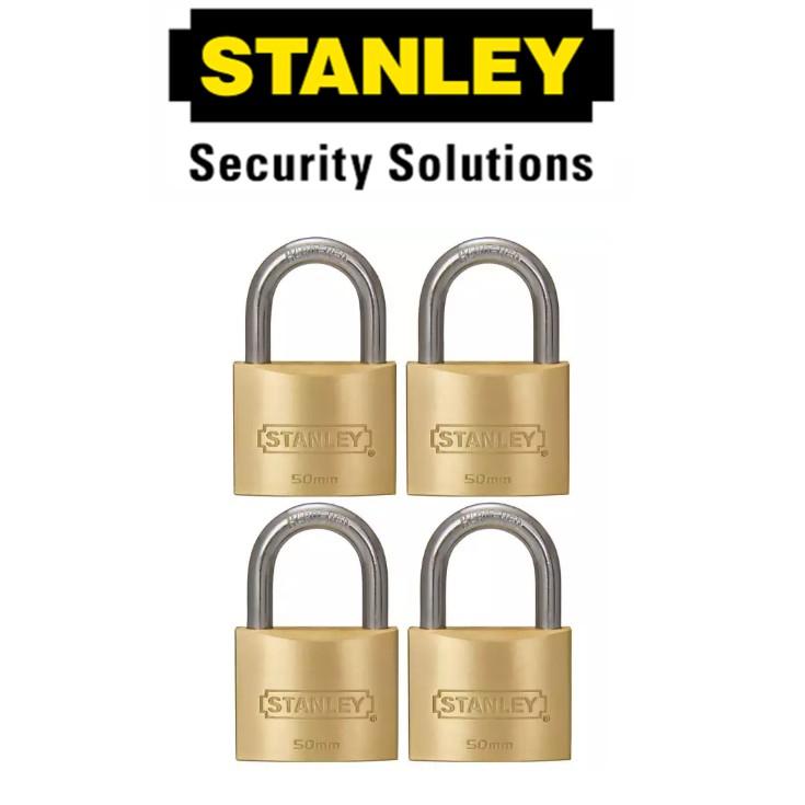 STANLEY STANDARD SHACKLE KEY ALIKE BRASS PADLOCK S827-429 50M SECURITY LOCK